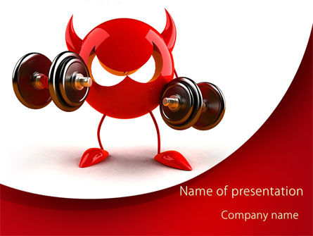 Sports: FreeBSD Daemon PowerPoint Template #09115