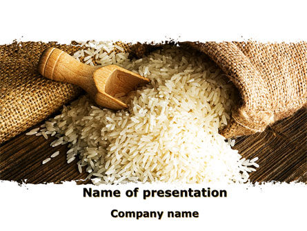 Food & Beverage: Grains Of Rice PowerPoint Template #09117