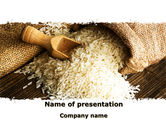 Food & Beverage: Templat PowerPoint Biji Padi #09117