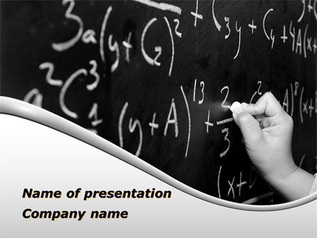 Mathematics Formulas PowerPoint Template