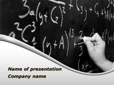 Education & Training: Mathematics Formulas PowerPoint Template #09119