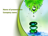 Health and Recreation: Green Soap PowerPoint Template #09122