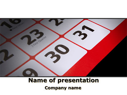 Table Calendar PowerPoint Template