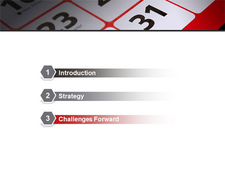 Table Calendar PowerPoint Template, Slide 3, 09124, Business — PoweredTemplate.com