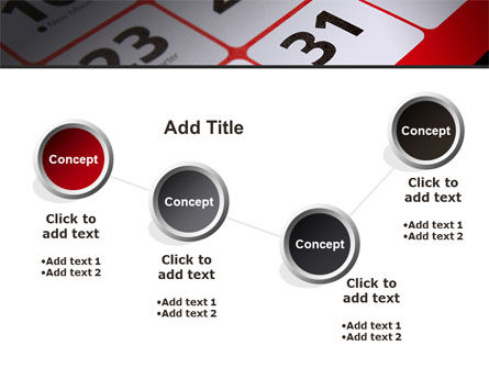 Table Calendar PowerPoint Template Slide 6
