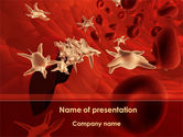 Medical: Blood and Virus PowerPoint Template #09126