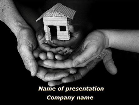 Many Generations House PowerPoint Template, 09128, Real Estate — PoweredTemplate.com