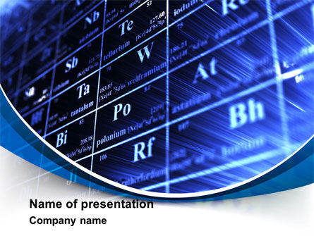 Technology and Science: Chemische Periodiek Systeem PowerPoint Template #09129