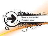 Black Arrow PowerPoint Template#1