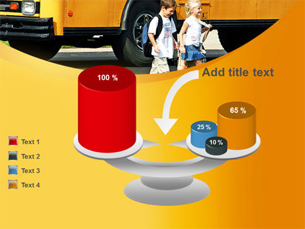 School Bus And Children PowerPoint Template Slide 10