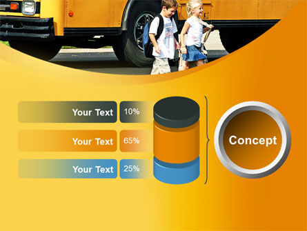School Bus And Children PowerPoint Template Slide 11
