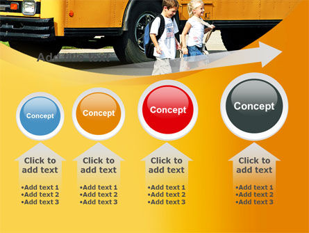 School Bus And Children PowerPoint Template Slide 13