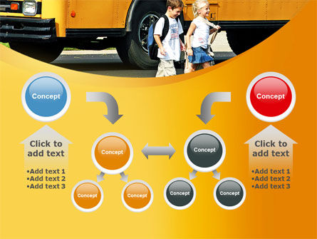 School Bus And Children PowerPoint Template Slide 19