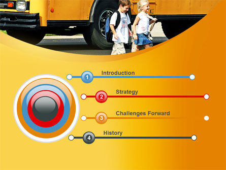 School Bus And Children PowerPoint Template, Slide 3, 09131, Education & Training — PoweredTemplate.com