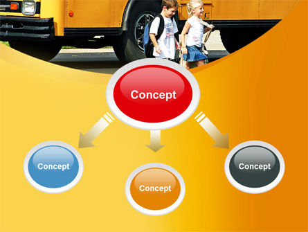 School Bus And Children PowerPoint Template, Slide 4, 09131, Education & Training — PoweredTemplate.com