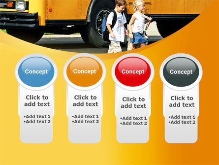 School Bus And Children PowerPoint Template Slide 5