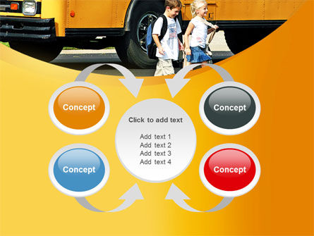 School Bus And Children PowerPoint Template Slide 6