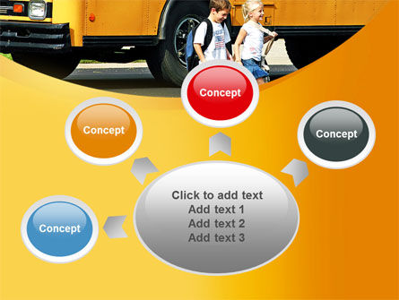 School Bus And Children PowerPoint Template Slide 7