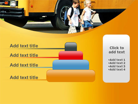 School Bus And Children PowerPoint Template Slide 8
