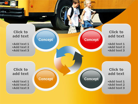 School Bus And Children PowerPoint Template Slide 9