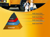 School Bus And Children PowerPoint Template#12