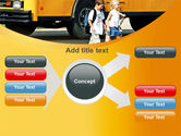 School Bus And Children PowerPoint Template#14