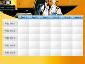 School Bus And Children PowerPoint Template#15