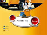 School Bus And Children PowerPoint Template#16