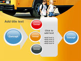 School Bus And Children PowerPoint Template#17