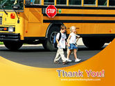 School Bus And Children PowerPoint Template#20