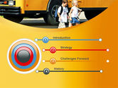 School Bus And Children PowerPoint Template#3