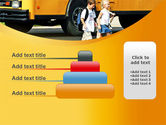 School Bus And Children PowerPoint Template#8
