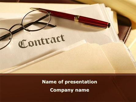 Business: Treaty PowerPoint Template #09133