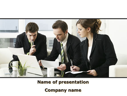 Teamwork PowerPoint Template, 09134, Business — PoweredTemplate.com