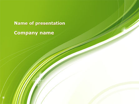 Olive White Abstract Wave PowerPoint Template