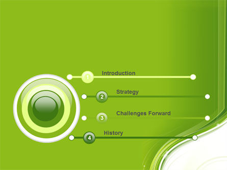 Olive White Abstract Wave PowerPoint Template Slide 3