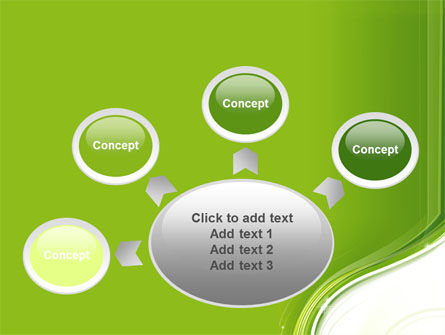 Olive White Abstract Wave PowerPoint Template Slide 7