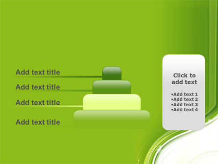 Olive White Abstract Wave PowerPoint Template Slide 8
