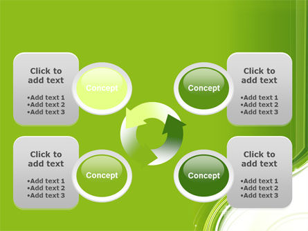 Olive White Abstract Wave PowerPoint Template Slide 9