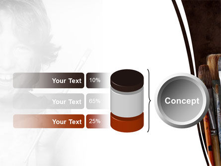 Painting Brushes PowerPoint Template Slide 11