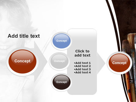 Painting Brushes PowerPoint Template Slide 17
