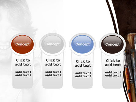Painting Brushes PowerPoint Template Slide 5