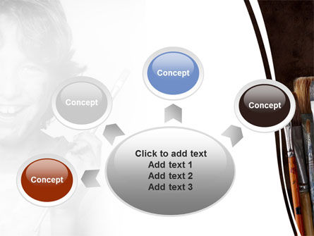Painting Brushes PowerPoint Template Slide 7