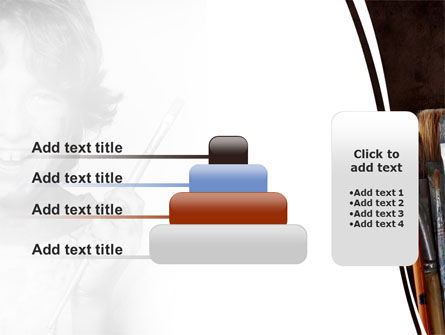 Painting Brushes PowerPoint Template Slide 8