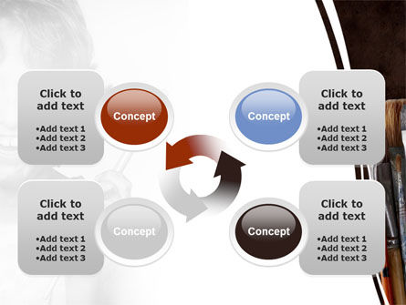 Painting Brushes PowerPoint Template Slide 9
