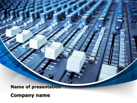 Art & Entertainment: Audio Mixing Console PowerPoint Template #09138