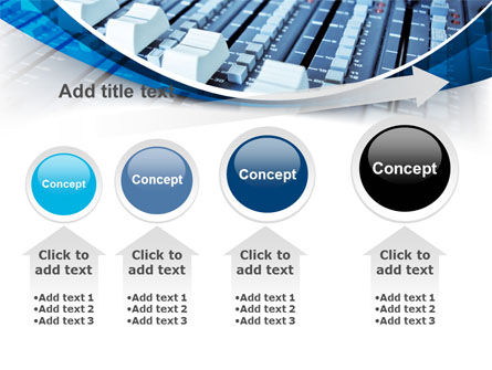 Audio Mixing Console PowerPoint Template Slide 13
