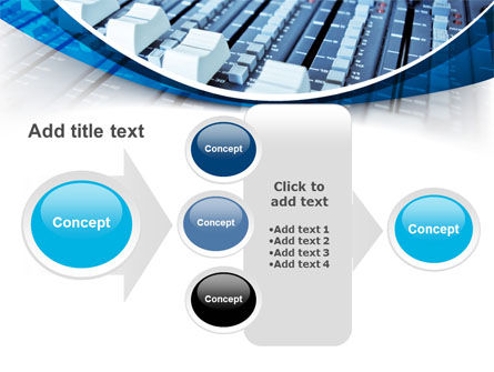 Audio Mixing Console PowerPoint Template Slide 17