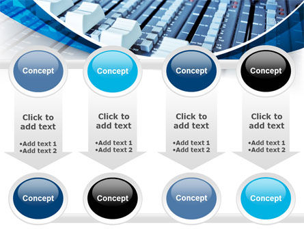 Audio Mixing Console PowerPoint Template Slide 18