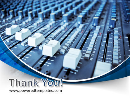 Audio Mixing Console PowerPoint Template Slide 20